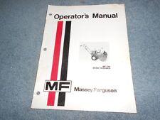 1974 MASSEY FERGUSON MF 228 SNOW THROWER OPERATOR's MANUAL ORIGINAL : USED