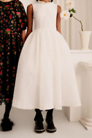 Simone Rocha X H&M HM Silk-Blend Cloqué Dress Pearl White UK 2 4 6 8 10 12 14 US