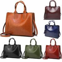 Women's zip Leather Messenger Satchel Bag Handbag lady Shoulder Bags Tote Purse