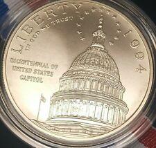 1994 U.S. Mint Library of Congress Uncirculated silver dollar, w/ box & Coa