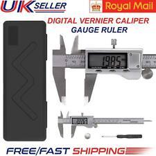 "6"" Digital Vernier Caliper Gauge Large LCD Screen 150mm Steel Water Resistant UK"