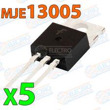 5x MJE13005 Transistor NPN BJT 400V 4A 75W 10hFE TO-220