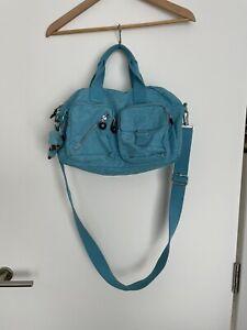 Kipling bag used with original monkey Turquoise Blue