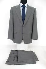 Hickey Freeman 2Btn Men's Suit Gray Stripe Loro Piana Wool 39R