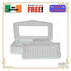 Nail Sterilizer Tray Disinfection Box Sterilizing Box Tool EU
