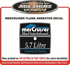 Mercruiser Blue Water Inboard 5.7 Litre Flame Arrestor Reproduction Decal
