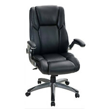 High Back Office Chair Rocking Adjustable Armrest Leather Ergonomic Desk Chairs