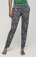 LONG TALL SALLY NAVY&WHITE FLORAL ANKLE GRAZER TROUSERS PANTS  SZS 10 TO 18