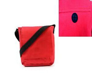 2 x Men's RED Messenger Bags Cross Body Shoulder Utility Travel Work Holiday UK