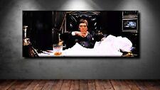 LEINWAND BILD ER XXL POP ART SCARFACE TONY MONTANA PACINO ABSTRAKT POSTER 150x60