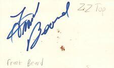 Frank Beard Drummer ZZ Top Rock Band Music Signed Index Card JSA COA
