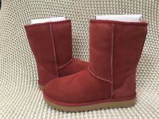 UGG Classic Short II Redwood Suede Fur Boots Womens Size 8 *NIB*
