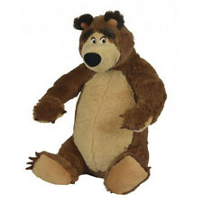 Masha and the Bear 23cm Plush Sitting Bear Soft Toy *BRAND NEW*