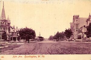 H88/ Huntington West Virginia Postcard c1910 Fifth Avenue Church Home 218