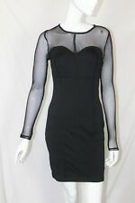 BNWT River Island Black Mesh Sweetheart Long Sleeve Bodycon Corset Dress 10