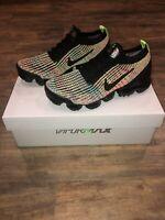 New Nike Air VaporMax Flyknit 3 Women Multicolor Black Volt Size 7.5 AJ6910-004