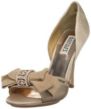NIB Badgley Mischka Babette II heels d'Orsay satin wedding bridal shoes nude 7