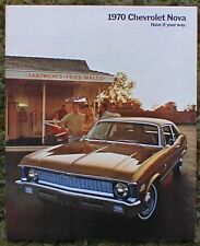 1970 Chevrolet Nova Catalog Brochure SS 350