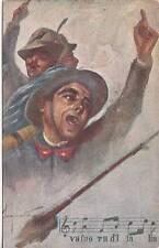 """X506) WW1, ALPINI E BERSAGLIERI, NOTE DI """"VA FUORI D'ITALIA ...""""."""