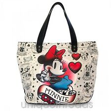 Disney x Loungefly MINNIE MOUSE TATTOO TOTE Bag