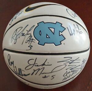 UNC 2004-05 National Championship Team Signed Basketball ROY WILLIAMS 11 AUTOs