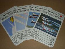 1970s BLUE IMPULSE AEROBATIC DISPLAY TEAM CARDS - F-86F SABRE AIRCRAFT