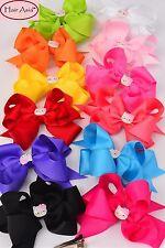 "Bow hair clip with Hello Kitty charm - Jumbo size (6"" × 5"")"