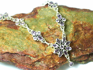 AMETHYST  Sterling  Silver 925  Gemstone  NECKLACE  -  Gift  Boxed