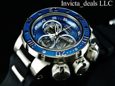 NEW Invicta 52mm Reserve Subaqua Sea Dragon SWISS Chronograph Blue Dial SS Watch