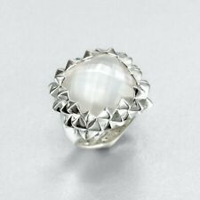Stephen Webster Superstud Small Square Ring Mother-of-Pearl Sterling Silver 6