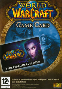 World Of Warcraft Wow Game Card Prepaid Karte 60 Tage PC 20000004