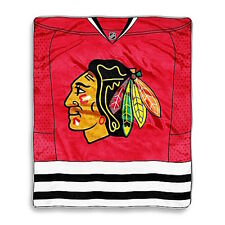 NHL Chicago Blackhawks 50x60 Jersey Series Royal Plush Raschel Throw Blanket