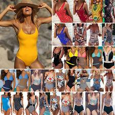 Womens One Piece Monokini Push Up Padded Bikini Swimsuit Swimwear Bathing Suit