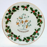 Vintage Royal Grafton Bone China Twelve Days of Christmas Plate 1980 Gold Rings