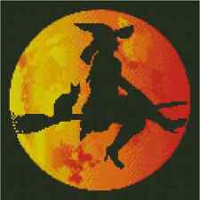 Halloween Witch Counted Cross Stitch COMPLETE KIT No. 42-102