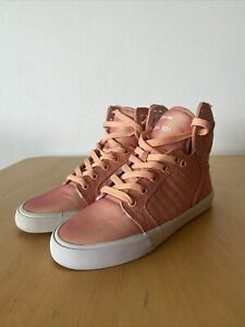 Supra Muska 001 Peach Women's Peach Hi Top Sneakers UK3.5 US6 EUR36.5