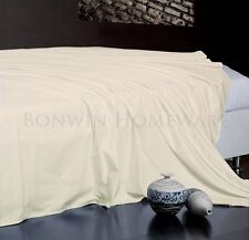 100% Egyptian Cotton Collection 1000TC Flat Top Sheet in IVORY for QUEEN Size