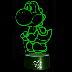 3D Illusion Night Light Yoshi USB 7 Color Touch Change