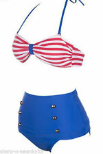 Unbranded Striped Halterneck Bikini Sets for Women