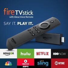 Amazon Fire TV Stick with Voice Remote Media Streamer - Black