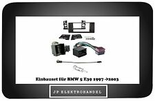 RADIOBLENDE 2 DIN BMW 5 E39 1997 ->2003 Kit cadre de montage + adaptateur ISO