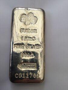 1Kg Pamp Suisse 999 Fine Silver Bar