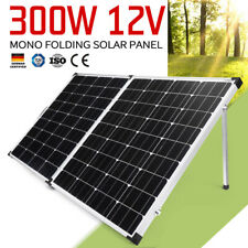 300w Folding Solar Panel 12v Mono Caravan Camping Battery Charge MPPT Controller
