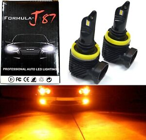 LED Kit M 100W H11 Orange Amber Two Bulb Fog Light Replacement Upgrade Lamp OE