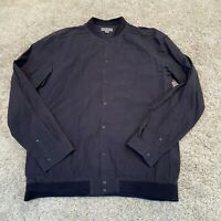 COS Mens Bomber Jacket Small Grey Cotton Light Button Up