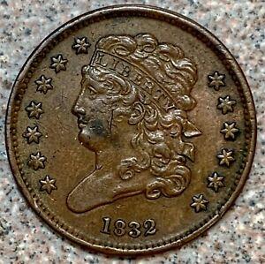 1832 Classic Head Half Cent * Fantastic Details!
