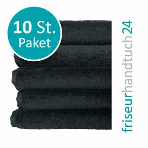 Friseur Handtücher 10x SCHWARZ 95° Farbecht & Fleckenresistent 100% Mikrofaser