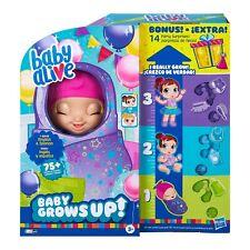 BABY ALIVE BABY GROWS UP DREAMY SHINING SKYLAR or STAR DREAMER + BONUS PACK DOLL