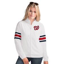 Washington Nationals MLB Women's G-III Sports GAME SCORE Full Zip Track Jacket