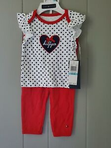 NWT TOMMY HILFIGER 2 piece Outfit HEART 6/9 months